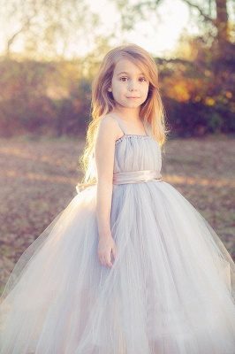 Lovely Sleeveless Purple Tulle Princess Flower Girl Dress Princess BA3422_4