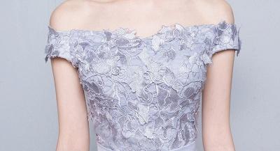Lace-Up-Back Floor-Length Lace-Appliques Off-the-Shoulder A-line Prom Dress UKes UK_3