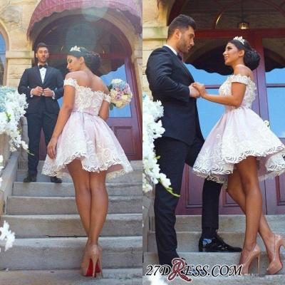 Short Off-the-Shoulder Gorgeous Zipper Lace Homecoming Dress UK_4