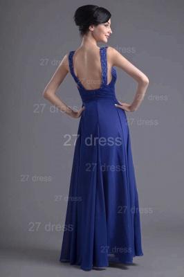 Sexy Chiffon A-line Lace Evening Dress UK Zipper Floor-length_6