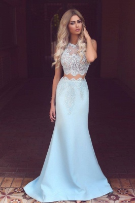 Modest Two Pieces lace Evening Dress UK Mermaid Floor Length BA3914_1