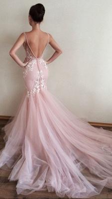 Luxury V-Neck Sleeveless Tulle Prom Dress UK Lace Appliques_3