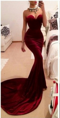 New Arrival Red Sweetheart Prom Dress UKes UK Elegant Memmaid Evening Gowns_1