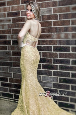 Sleeveless Open-Back Lace Prom Dress UK | Mermaid Long Evening Party Dress UK_3