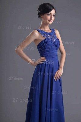 Sexy Chiffon A-line Lace Evening Dress UK Zipper Floor-length_5