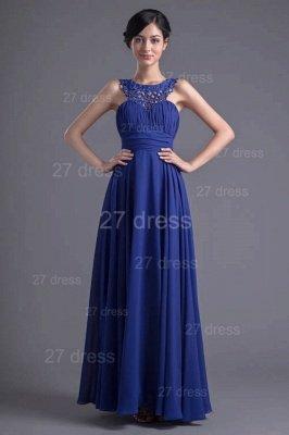 Sexy Chiffon A-line Lace Evening Dress UK Zipper Floor-length_2