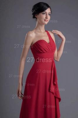 Modern One Shoulder Chiffon Evening Dress UK Floor-length Ruffles_2