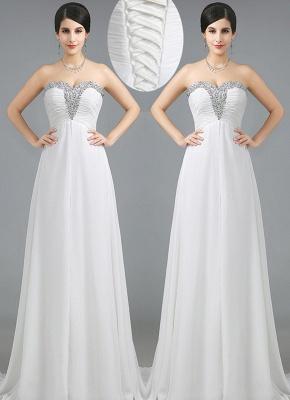 Luxury Sweetheart Crystals Prom Dress UK Long Chiffon Lace-Up_4