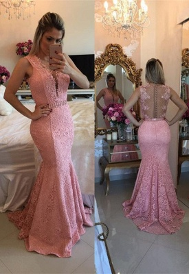 Luxury Sleeveless Lace Evening Dress UK Mermaid Party Gowns BMT BA9607_1