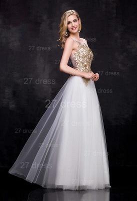 Delicate Lace Appliques Tulle Evening Dress UK A-line Floor-length_3