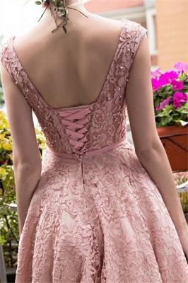 Gorgeous Beadings Lace A-Line Lace-up Tea-Length Homecoming Dress UKes UK_3