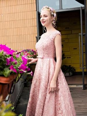 Gorgeous Beadings Lace A-Line Lace-up Tea-Length Homecoming Dress UKes UK_2