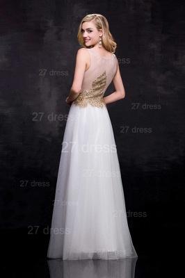 Delicate Lace Appliques Tulle Evening Dress UK A-line Floor-length_4