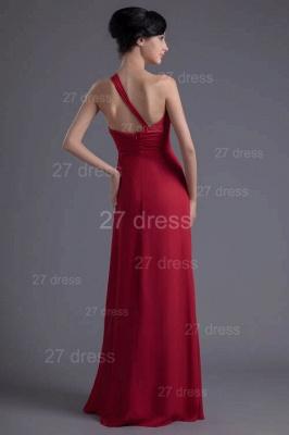 Modern One Shoulder Chiffon Evening Dress UK Floor-length Ruffles_5