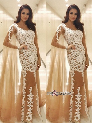 Lace prom Dress UK with ruffles, tulle evening gowns_2