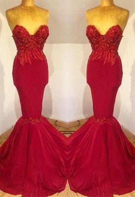 Gorgeous Sweetheart 2019 Evening Dress UK   Mermaid Long Prom Dress UK With Beadings_1