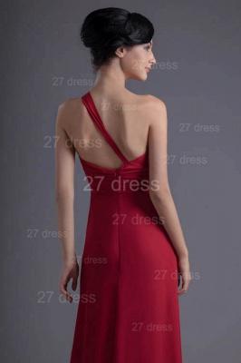 Modern One Shoulder Chiffon Evening Dress UK Floor-length Ruffles_3