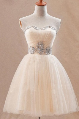 Cute Sweetheary SHort Tulle Homecoming Dress UK With Crystals BA7344_1