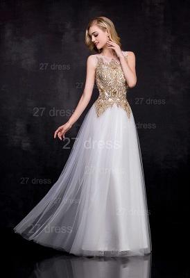 Delicate Lace Appliques Tulle Evening Dress UK A-line Floor-length_2