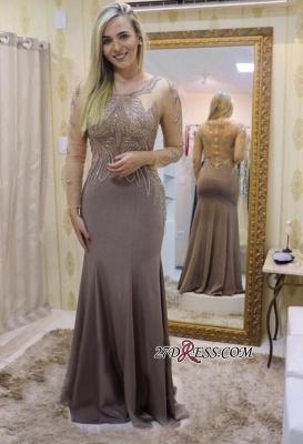 Long sleeve prom Dress UKes UK, beadings evening party Dress UK_1