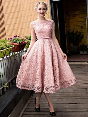 Gorgeous Beadings Lace A-Line Lace-up Tea-Length Homecoming Dress UKes UK_5