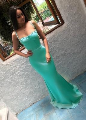 Sleeveless Mermaid Prom Dress UK   Simple Spaghetti-Strap Simple Evening Gowns_1