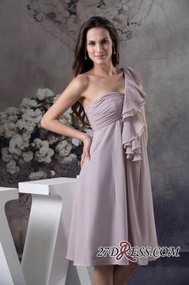 One-Shoulder Knee-Length Sexy Sheath Simple Short Bridesmaids Dress UKes UK_3