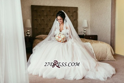 Tulle Sweetheart Lace Beadss Elegant Princess Wedding Dress_2