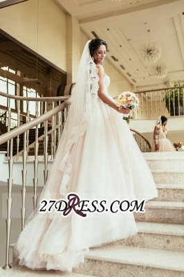 Tulle Sweetheart Lace Beadss Elegant Princess Wedding Dress_5