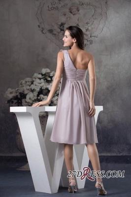 One-Shoulder Knee-Length Sexy Sheath Simple Short Bridesmaids Dress UKes UK_4