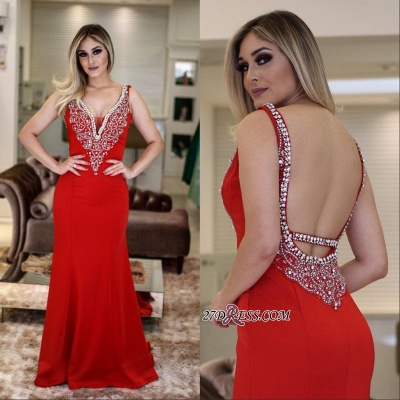 Red prom Dress UK, evening Dress UK with crystal_2
