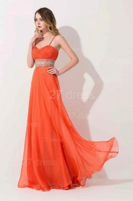 Modern A-line Chiffon Evening Dress UK Beadings Spaghetti Strap_2