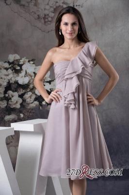 One-Shoulder Knee-Length Sexy Sheath Simple Short Bridesmaids Dress UKes UK_5