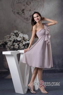 One-Shoulder Knee-Length Sexy Sheath Simple Short Bridesmaids Dress UKes UK_1