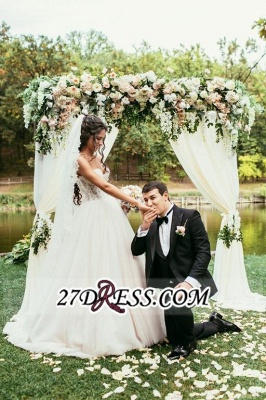 Tulle Sweetheart Lace Beadss Elegant Princess Wedding Dress_4