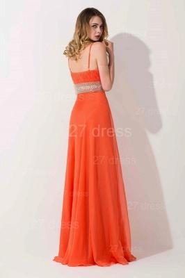 Modern A-line Chiffon Evening Dress UK Beadings Spaghetti Strap_3