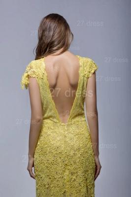 Newest Jewel Lace Appliques Evening Dress UK Open Back_5