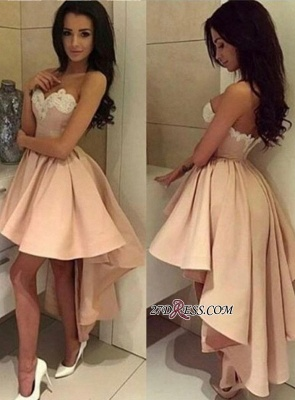 Ball-Gown Lace High-low Sweetheart Modern Cocktail Dress UK LPL104_2