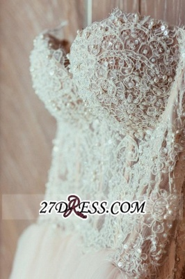 Tulle Sweetheart Lace Beadss Elegant Princess Wedding Dress_3