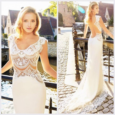 Gorgeous Designer Lace Wedding Dress Sexy Mermaid Sweep Train_3
