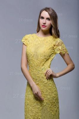 Newest Jewel Lace Appliques Evening Dress UK Open Back_4