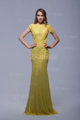 Newest Jewel Lace Appliques Evening Dress UK Open Back_1