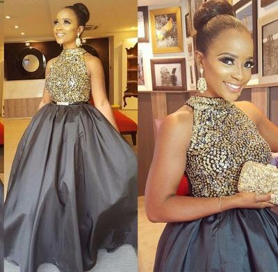 Gorgeous Halter Crystal Beads Prom Dress UK Long Sleeveless On Sale BA8231 BK0_3