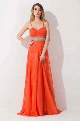 Modern A-line Chiffon Evening Dress UK Beadings Spaghetti Strap_1