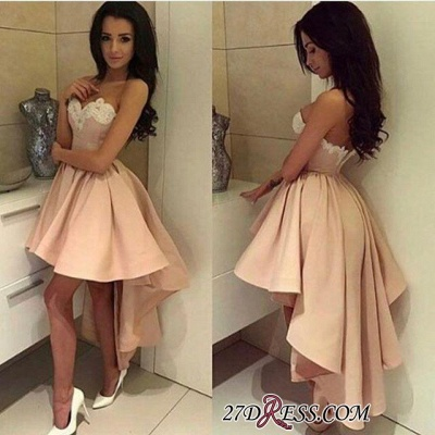 Ball-Gown Lace High-low Sweetheart Modern Cocktail Dress UK LPL104_3