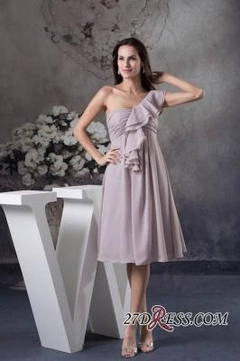 One-Shoulder Knee-Length Sexy Sheath Simple Short Bridesmaids Dress UKes UK_6