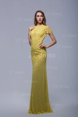 Newest Jewel Lace Appliques Evening Dress UK Open Back_2