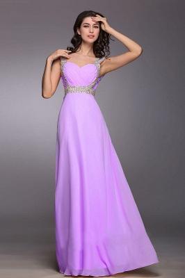 Gorgeous Sweetheart Crystals Chiffon Prom Dress UK Long Lace Up_4