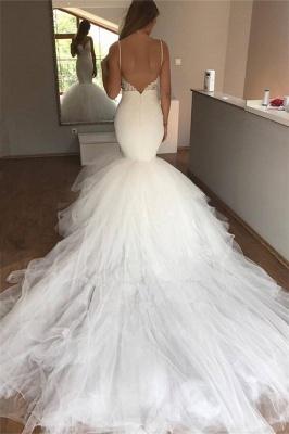 Gorgeous Spaghetti-Straps Wedding Dress | Lace Sexy Mermaid Bridal Gowns_3