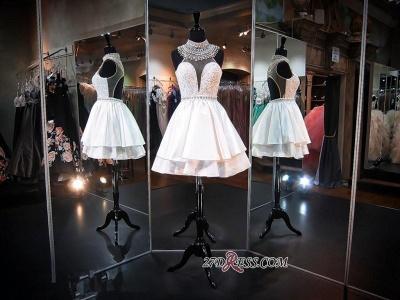 Delicate High-Neck Sleeveless A-line Beads Mini Homecoming Dress UK_2